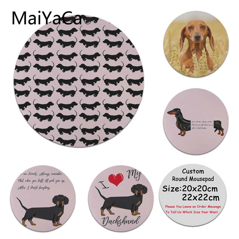 MaiYaCa Custom Skin Dachshund Silicone Pad to Mouse Game Customized MousePads Computer Laptop Anime Mouse Mat