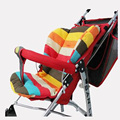 baby stroller Seat Cushion Cotton stripe bb care car waterproof chair pad stroller accessories Pram Rainbow cotton thick mat