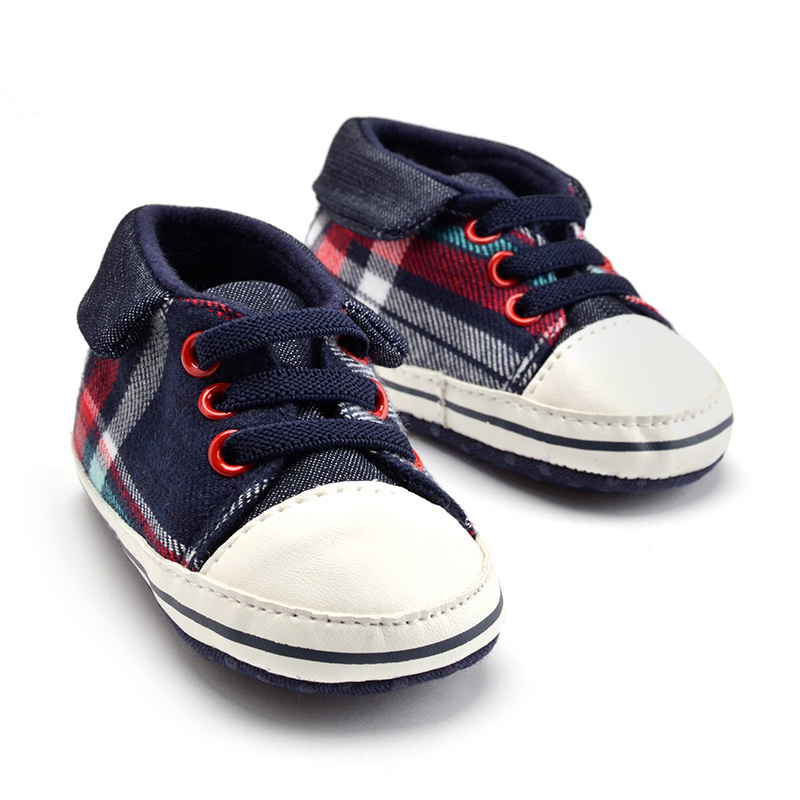 Fashion Newborn Shoes Classic Sports Sneakers Newborn Baby Boys Girls First Walkers Shoes Bow Square Shoes Baby Shoes