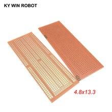 1 шт. DIY 4,8*13,3 см Прототип бумага PCB Универсальный Эксперимент Матрица платы 4,8x13,3 см