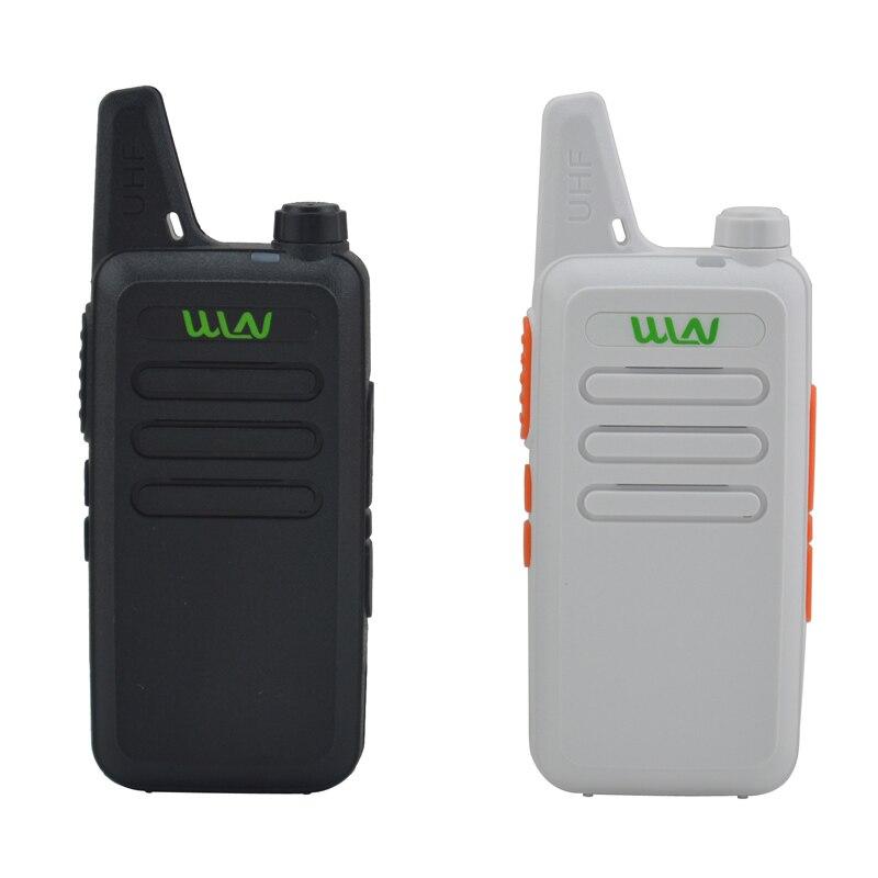 2 шт. x WLN KD-C1 черный/белый цвет 16 каналов ультра-тонкий мини иди и болтай Walkie Talkie UHF 400-470 МГц Ham радио