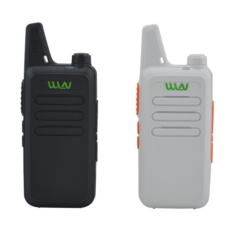 2pcs X WLN KD-C1  Black / White 16 Channel Ultra-thin Mini Walkie Talkie UHF 400-470 MHz Ham Radio