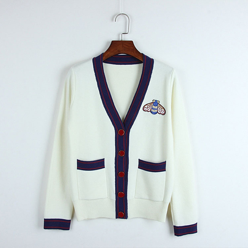 Lady Chandails Hiver 87179 Femelle Manches Vert À Pull Longues Nouvelle Outwearing 2018 Bon Match Tops Style blanc Automne Simple Mode Cardigans EwxBnZfOCq