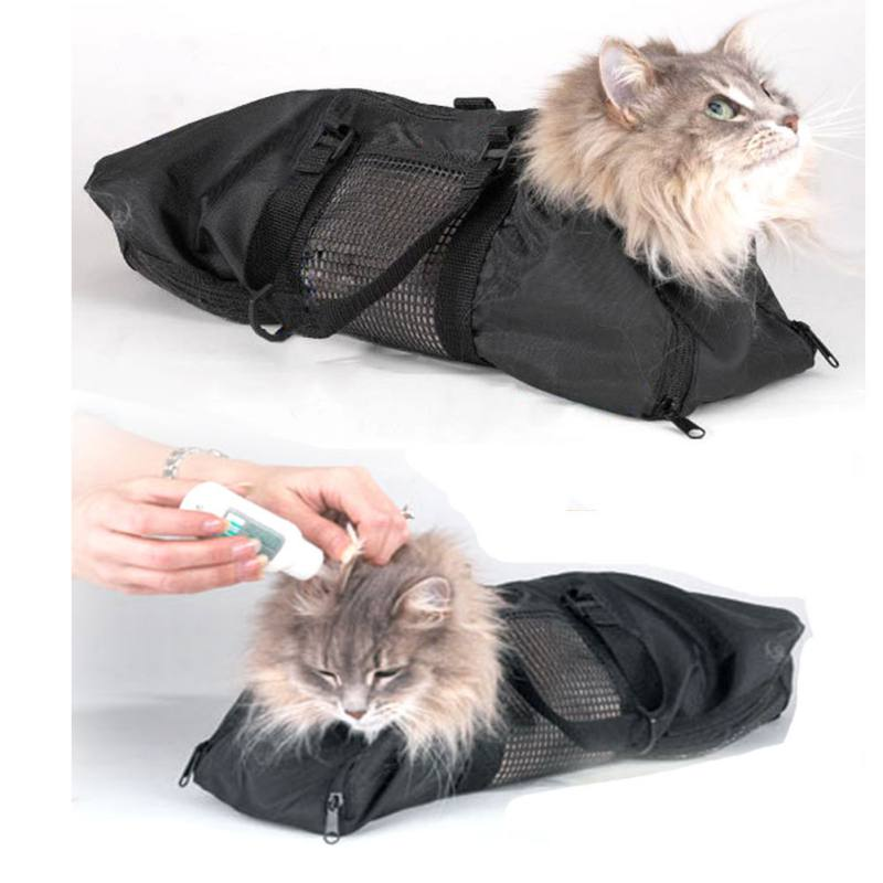 Multi-functional Cat Grooming Bag Restraint Bag Cats Nail Clipping Cleaning Grooming Bag Pet Supply Cat Carriers
