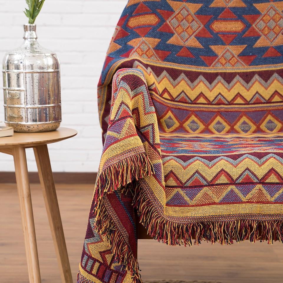 Baumwolle mit Fransen Vintage Babydecke wirft auf Sofa / Bett / - Haustextilien - Foto 4