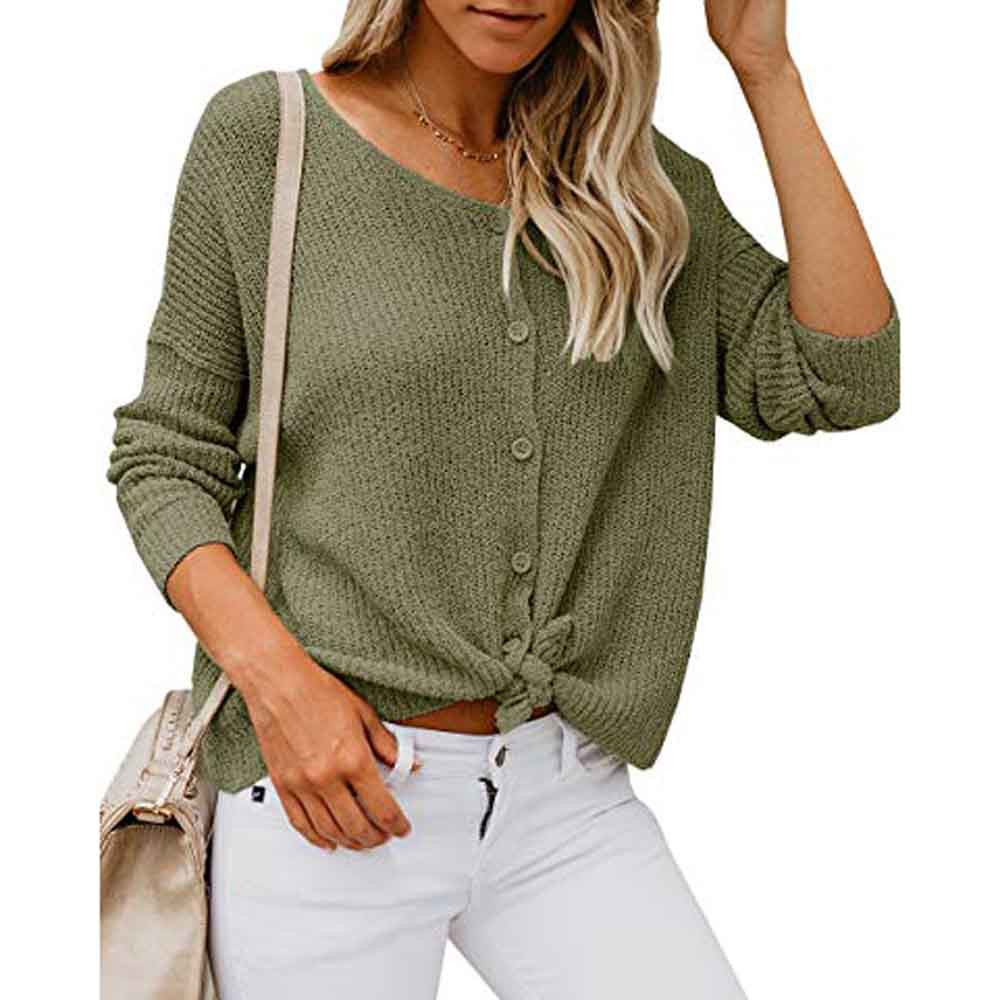 8. Womens Long Sleeve Off Shoulder Sweater Button Down Shirts Sexy Tops  Blouse winter warm top female ladies befree green F80-in Blouses & Shirts  from Women's Clothing & Accessories - Dirt Devil
