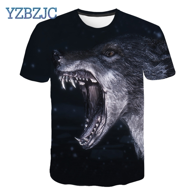 4dc8fe5d5f6 2018 summer Men s animal T-Shirt orangutan gas monkey Wolf 3D Printed T-Shirts  Men Funny tees tops tee shirt large size