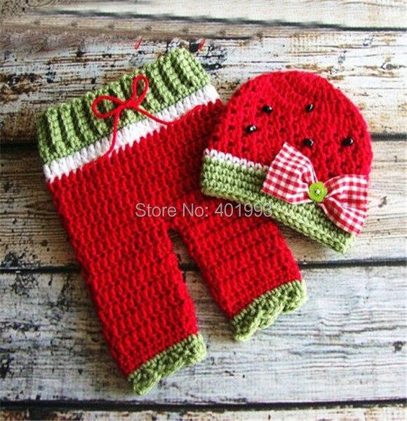 Envío libre del ganchillo bebé recién nacido sombrero y pantalones ...