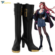 DRB Division Rap Battle Ichijiku Kadenokoji Cosplay Shoes Boots High Heel Black Custom Made