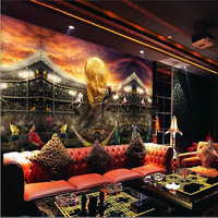 Wall Wallpaper 3d Photo Background Photography World Cup European Cup Soccer Star Bedroom Paper Mural Murals