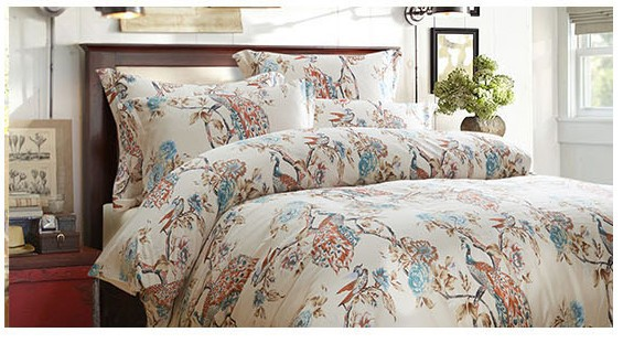 Luxury Pea Bird Print Design Bedding Set Egyptian Cotton Sheets King Queen Size Quilt Duvet Cover Brand Bed In A Bag Bedroom Sets From Home