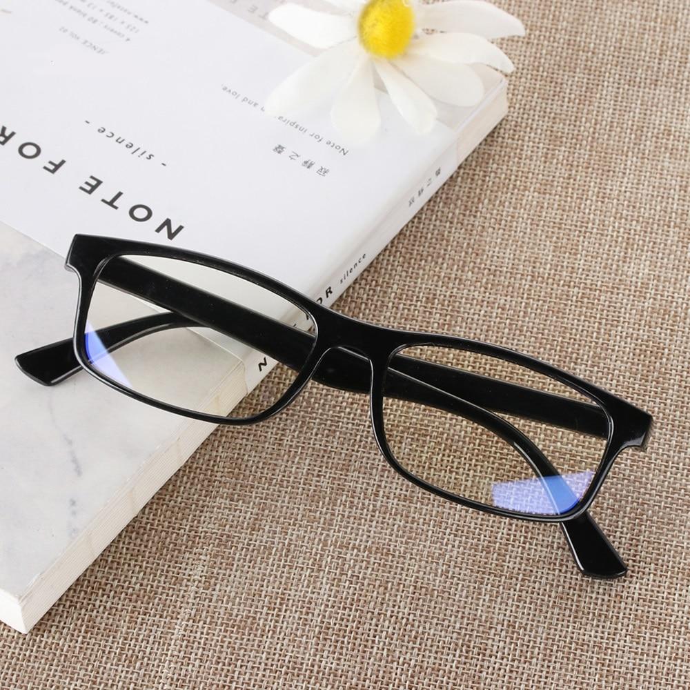 Anti-blue radiation glasses trend computer goggles plane mirror no degree silver blue men and women