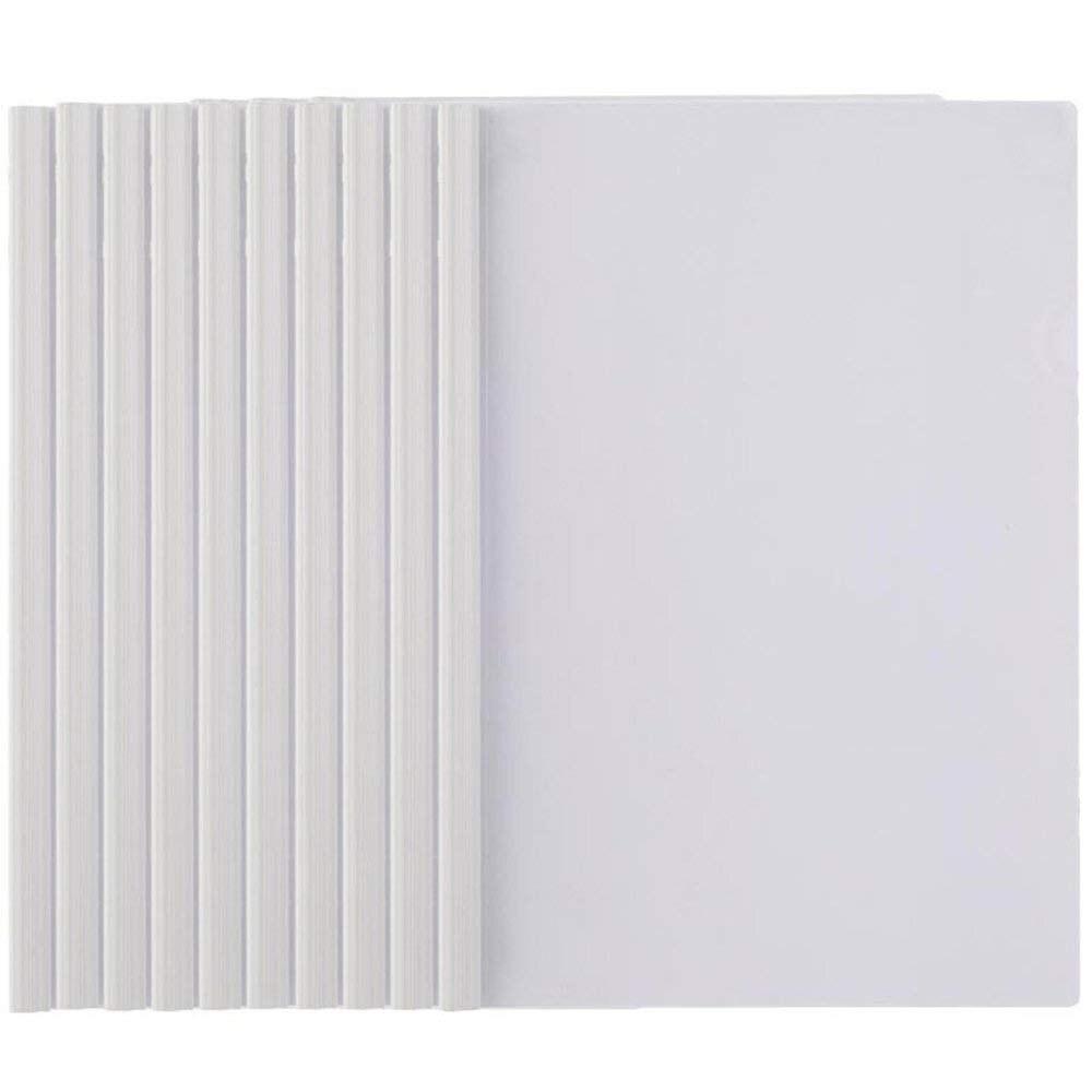 MyLifeUNIT Plastic File Folder Sliding Bar Report Covers Transparent Resume Presentation File Folders Organizer Binder 10 Pcs