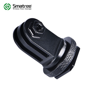 Image 1 - Smatree Full Aluminum Tripod Screw for GoPro hero 8 to DSLR Camera Flash Hot Shoe Mount Adapter for GoPro Hero Fusion, 6 5 4,3+
