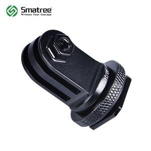 Image 1 - Smatree vis de trépied en aluminium pour GoPro hero 8 à DSLR caméra Flash adaptateur de fixation de chaussures chaudes pour GoPro hero Fusion, 6 5 4,3 +