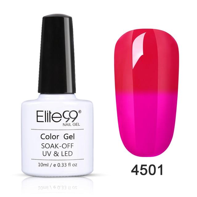 Elite99 10ml Wein Rot Gel Tränken Weg Chameleon UV Gel Nagellack Temperatur Farbe-ändern Nagel Kunst design Gel Lacke