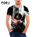 FORUDESIGNS Hot Sale 3D Assassin Creed T Shirts Men Vikings Summer Short Sleeve T-Shirt Male Casual Tee Shirts Students Tshirt
