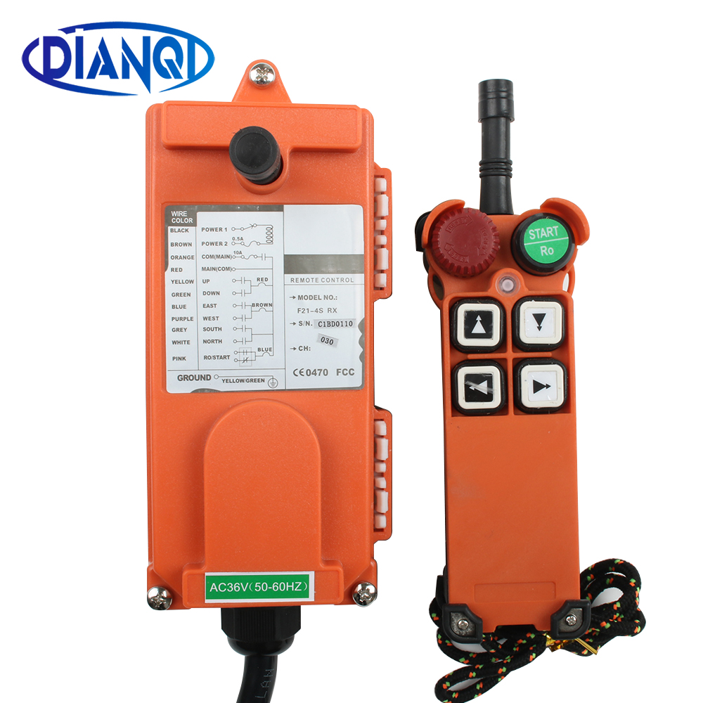 110V 220V 380V 12V 4 channel red Industrial Wireless Radio remote controller switch for crane 1
