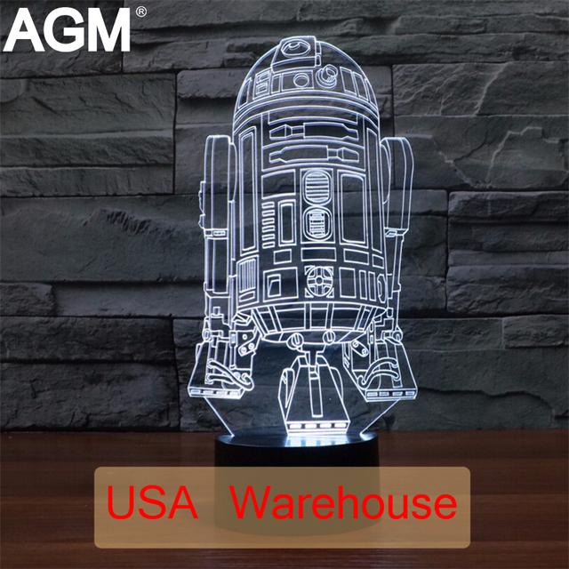 Star Wars 3D lámpara de Mesa Táctil de 7 Que Cambia de Color de Luz 3D Buques de Guerra 3d led novelty 3d luces de la noche para los niños figura de acción de juguete regalos