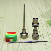 Hookahs set de herramientas 10/14/18mm espesar gr2 titanio nail CARB Cap Dabber silicona JAR vidrio pipas fumar agua Tuberías