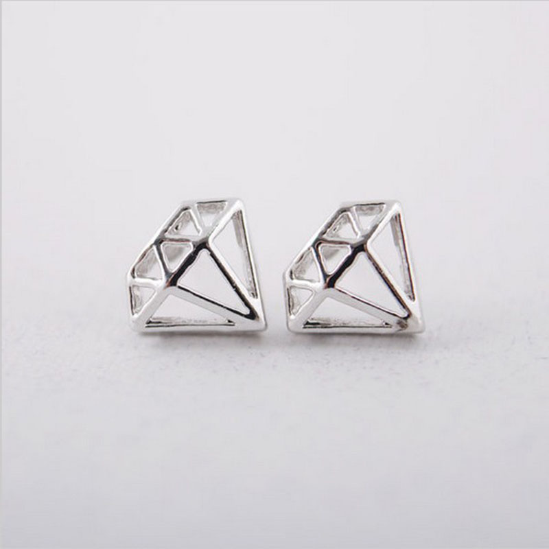 earrings vintage diamond shaped fox pear stud bond