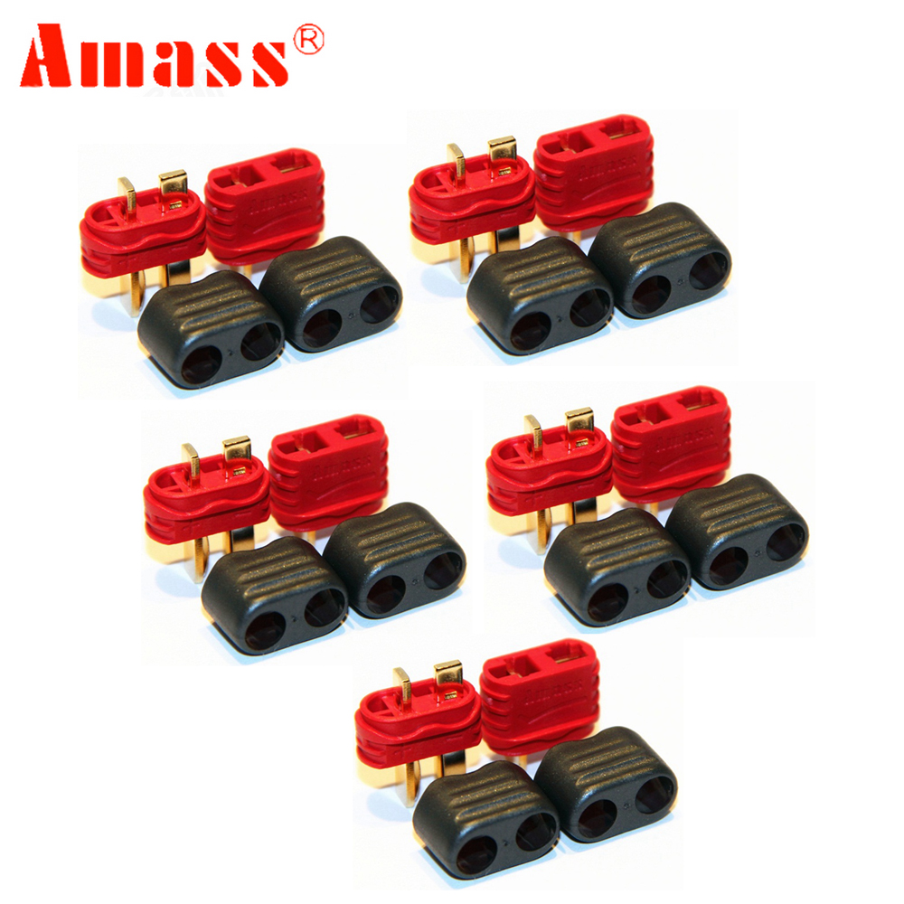 5pair/lot Amass new slip sheathed T plug connector 40A high current multi-axis fixed-wing model aircraft(China)