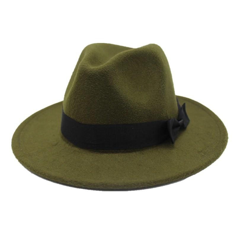 OZyc 2018new Frühjahr Breite Krempe Fedora Männer Frauen Vintage Jazz Hüte Mode Sterne wollfilz hut Unisex Schwarz Filz Bowler trilby