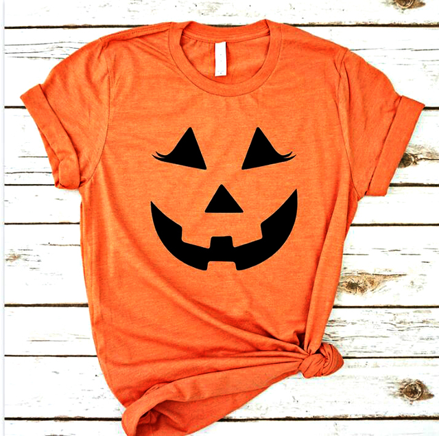 f31991977 Halloween Pumpkin Women Fashion tshirt Grunge Tumblr Art Party T-shirt  Cotton Summer Kawaii Graphic Tops Holiday Gift Art Shirt
