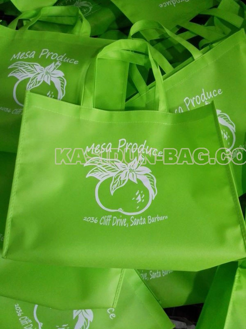 one colour logo non woven tas