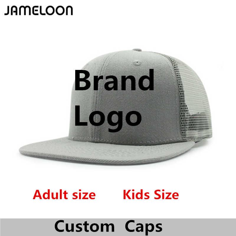 51f4141eaf5 Custom Snapback Hat High Quality 3D Embroidery Acrylic Flat Brim Adult Men  Women Kids Baseball Mesh
