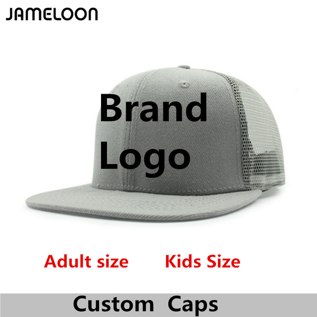 b22843ded US $136.0 15% OFF|Custom Snapback Hat High Quality 3D Embroidery Acrylic  Flat Brim Adult Men Women Kids Baseball Mesh Trucker Hats-in Baseball Caps  ...