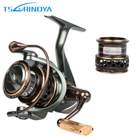 TSURINOYA Jaguar 1000 2000 3000 Spinning Fishing Reel 5 2 1 9 1BB Double Metal Spools