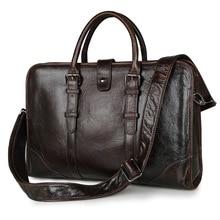 Nesituวินเทจจริงผิวหนังแท้ผู้ชายของMessengerกระเป๋าคนCowhideผลงานกระเป๋า14นิ้วแล็ปท็อปกระเป๋า# M7339