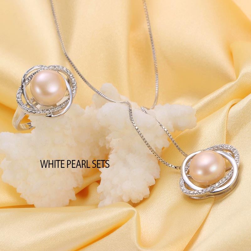 9d3e6b154 HENGSHENG 10 11 mm pearl jewelry sets, natural freshwater pearl pendant and  rings, fine jewelry for women-in Jewelry Sets from Jewelry & Accessories on  ...