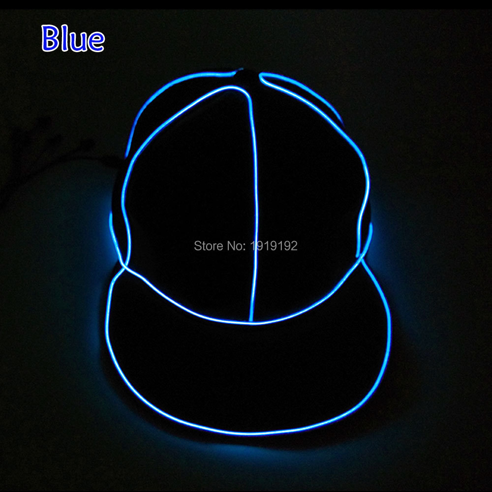 Free shipping Glowing hat hat female LED clothing Neon Terror EL Cap Cold light Festival Party dance Carnival Boy Hat
