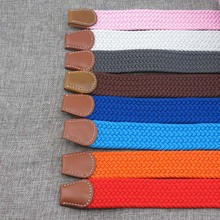 (1 pcs/lot) Pure color woven belts with telescopic elastic high quality male and ladies waist belt fashion have temperament