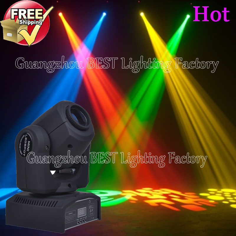 8pcs/lot powerful led spot 10w good function 3in1 wash spot beam moving head stage light dj equipment niugul dmx stage light mini 10w led spot moving head light led patterns lamp dj disco lighting 10w led gobo lights chandelier