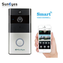 SunEyes SP-DB700W Battery Wireless Video Door Bell with Wifi Network IP Camera Support Two Way Audio P2P Phone View Video Push