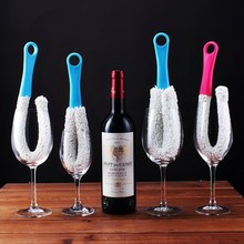 Flexible Wine Cup Brush Cleaning Brush Plastic Decanter Brush Washing Clean Brush Scrubber Bottle Cleaner Kitchen Tools Supplies стоимость