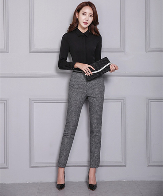 Office Lady Formal Pants Women High Waist Work Trousers Fashion Casual Autumn Spring Pencil Pants Female Clothing 2020 4XL XXXL