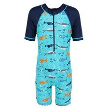 BAOHULU Kids Swimwear UPF50+ Boys swimsuit One Piece Rash Guard Vest Teens Surf Beach Wear Sun Suit Children Swim Suits Bathing