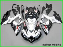 Подходит для Suzuki литья под давлением обтекатели GSX-R 600 750 2008 2009 2010 белый черный обтекатель комплект для GSXR 750 08 09 10 YZ10