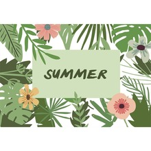 Laeacco Tropical Palm Tree Summer Scenic Flower Leaves Photography Background Customized Photographic Backdrops For Photo Studio