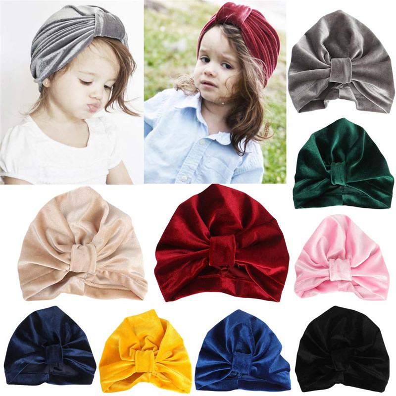 60e8ca12bbb Baby Hat Baby Girl Turban Solid Toddler Kids Boy Girl India Hat Autumn Baby  Accessories Lovely