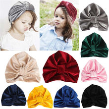 (Ship from US) Baby Hat Baby Girl Turban Solid Toddler Kids Boy Girl India Hat  Autumn Baby Accessories Lovely Soft Baby Hats casquette enfant 53e1951253c2