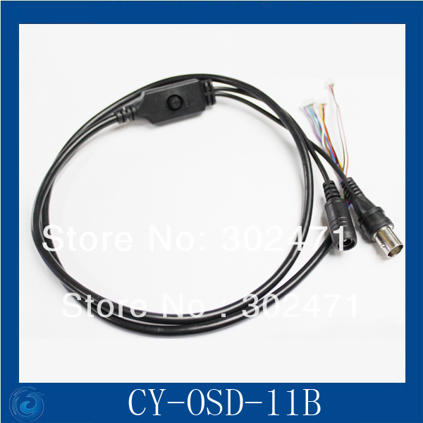 OSD Cable With Power Port + Video Port + OSD Menu Port For CCD Board