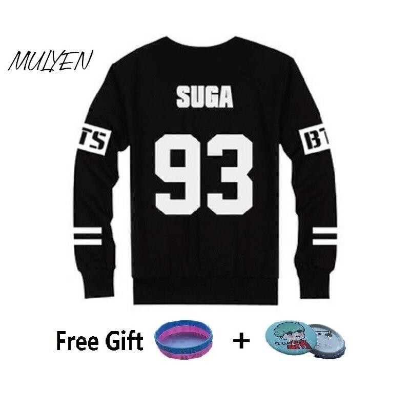MULYEN BTS Kpop Hoodies Women Unisex Bangtan Boys Album Printed Fan Supportive Sweatshirt Tracksuits Sudaderas Mujer 2017