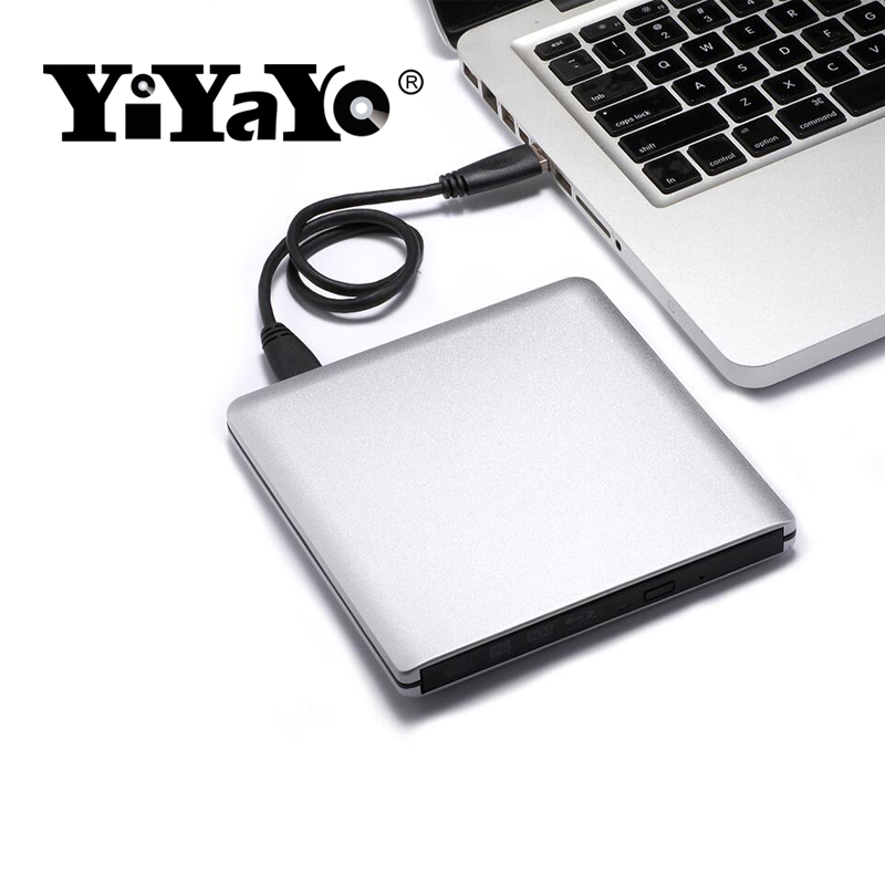 YiYaYo USB 3.0 Bluray Drive External Optical Drive BD-ROM DVD-ROM 3D Player CD/DVD RW Burner Read Laptop for Windows 10/7/8 totem niveau 3 methode de francais b1 dvd rom
