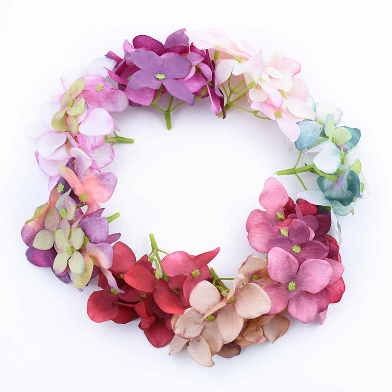 6pcs Cheap Silk hydrangea wedding car home decoration accessories decorative flowers wall Fake plants grass artificial flowers