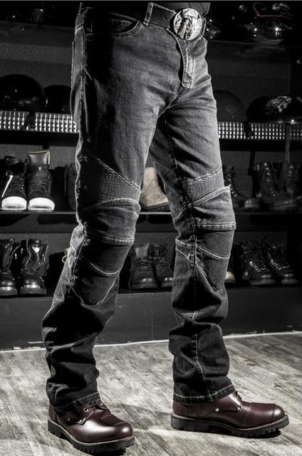 Classic KOMINE Motorcycle Jeans Drop Resistance Slim Denim Cycling Racing Pants Motocross Off-road Hockey Pants with Protector 3